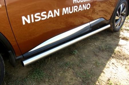 Nissan MURANO 2016 - Защита порогов d76 труба